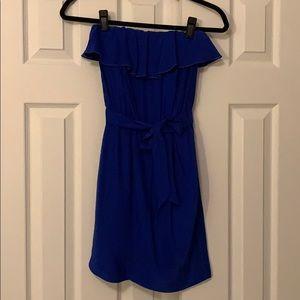 Amanda Uprichard Cobalt Blue Silk Dress